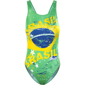 Turbo Brasil Traje de Baño con Tiras Mujer, green/yellow